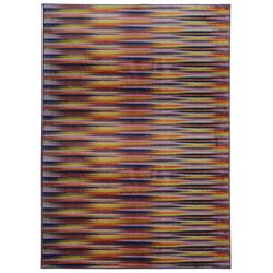 Prismatic Gold/Orange Abstract Area Rug