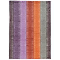 Prismatic Purple/Orange Geometric Area Rug