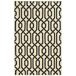 Matrix Cream Geometric Area Rug