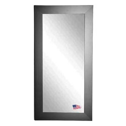 Satin Black Wide Tall Mirror