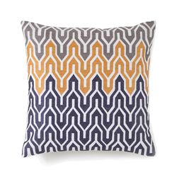 Plimpton Flame All Over Embroidered Flame Throw Pillow