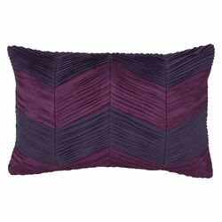 Ziggurat Chevron Raw Edge Pleat Decorative Pillow