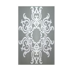 Decorative Geometric Grey/Light Grey Area Rug