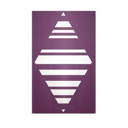 Decorative Geometric Purple/White Area Rug