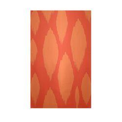 Decorative Ikat Pumpkin/Orange Area Rug