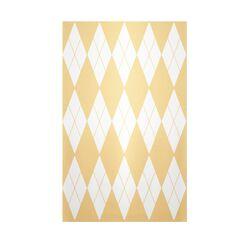 Decorative Geometric Yellow Haze/White Area Rug