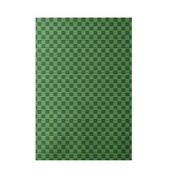 Decorative Geometric Green Area Rug