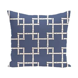 Botanical Blooms Bamboo Geometric Outdoor Throw Pillow