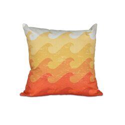 Hang Ten Deep Sea Geometric Outdoor Throw Pillow