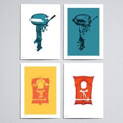 Workbench Wilderness Bay Graphic Art Set