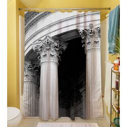 A Travers Paris III Polyester Shower Curtain