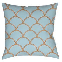 Art Deco Circles Printed Throw Pillow