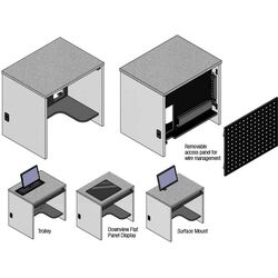 Single User Student Surface Mount Workstation