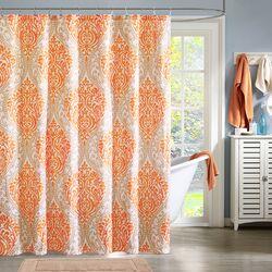 Senna Microfiber Printed Shower Curtain