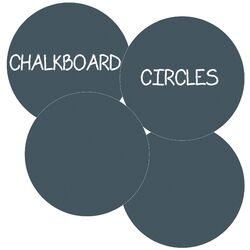 Chalkboard Circles Removable Wall Decal