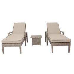 Aosom outsunny chaise lounge with cushion reviews wayfair for Aosom llc outsunny chaise lounge