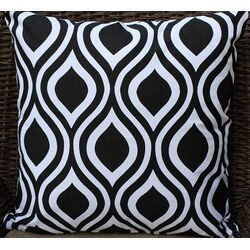 Modern Print Cotton Throw Pillow