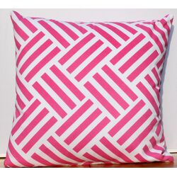 Cross Stripes Cotton Throw Pillow