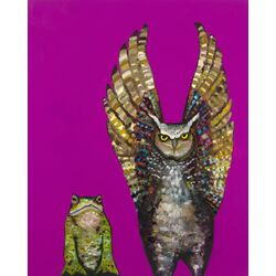 'Owl and Toad' by Eli Halpin Painting Print