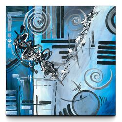 Blue Divinity Canvas Art Print