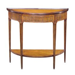 Provincial Bowed Console Table