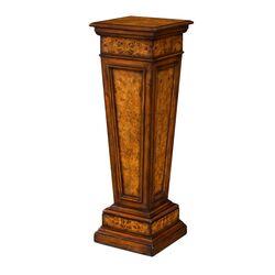 Burl Pedestal Telephone Table