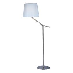 Tuxedo Floor Lamp in Satin Nickel