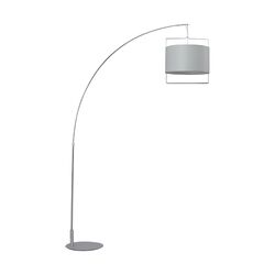 Passion Floor Lamp in Satin Nickel/Polished Chrome