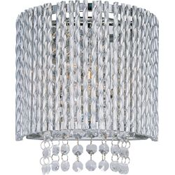 Spiral One Light Wall Sconce in Polished Chrome