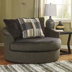 Westen Oversized Swivel Arm Chair