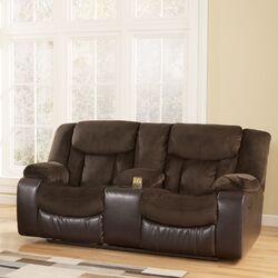 Serta Upholstery Double Reclining Loveseat Amp Reviews Wayfair
