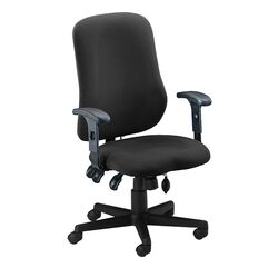 Mid-Back Fabric Contoured Support Chair