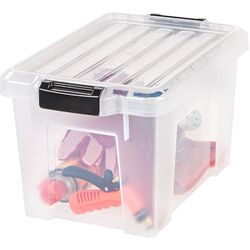 Heavy Duty Plastic Latch Tote with Lid (Set of 4)
