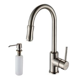 Undermount Single Bowl Kitchen Sink with Faucet and Soap Dispenser