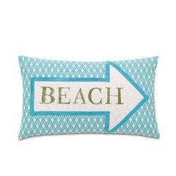 Maldive Beach Block Printed Pillow