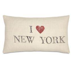Passport I Love New York Pillow