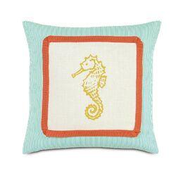Tropical Sunny Seahorse Pillow