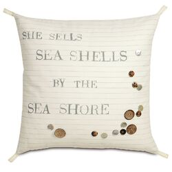 Nautical Shells by the Shore Pillow