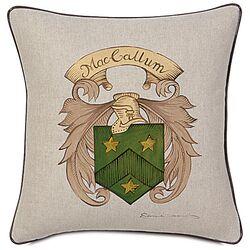 MacCallum Hand Painted Name Crest Decorative Pillow