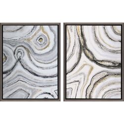 Shades of Gray by Jardine 2 Piece Framed Painting Print Set