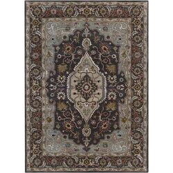 Bajrang Grey Area Rug