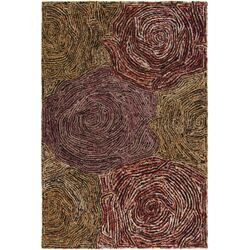 Twister Brown Abstract Area Rug