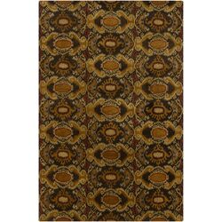 Rupec Brown Abstract Area Rug