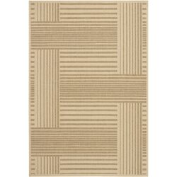 Ryan Tan Geometric Indoor/Outdoor Area Rug