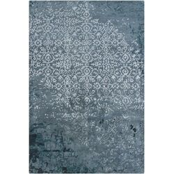 Rupec Blue Abstract Area Rug