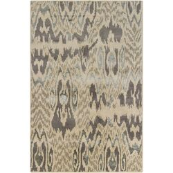 Rupec Tan Abstract Area Rug