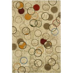 Tupelo Tan Abstract Area Rug