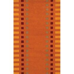 Alma Orange Area Rug