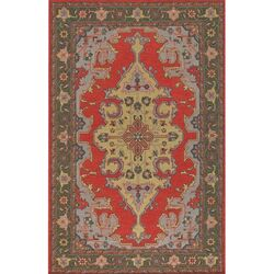 Pooja Brown/Red Area Rug