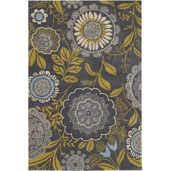 Amy Butler Lacework Yellow/Black Area Rug